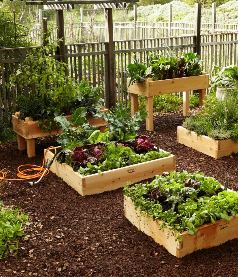Unique Raised Garden Containers : Raised bed planters great ideas for small spaces