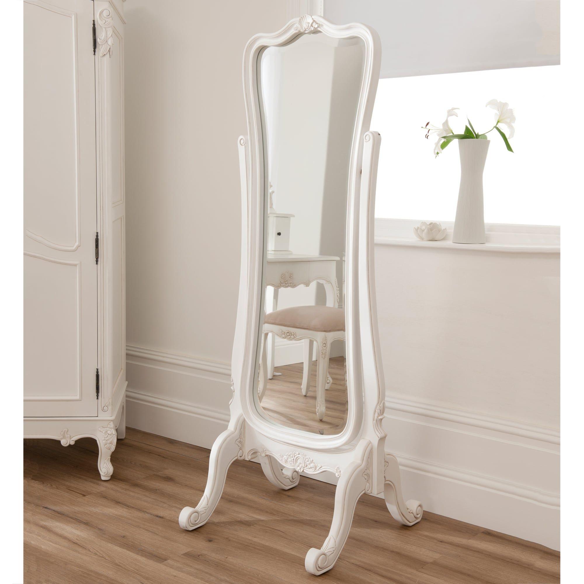 White baroque floor mirror baroque antique french style cheval white baroque floor mirror baroque antique french style cheval mirror white floor r dailygadgetfo Gallery
