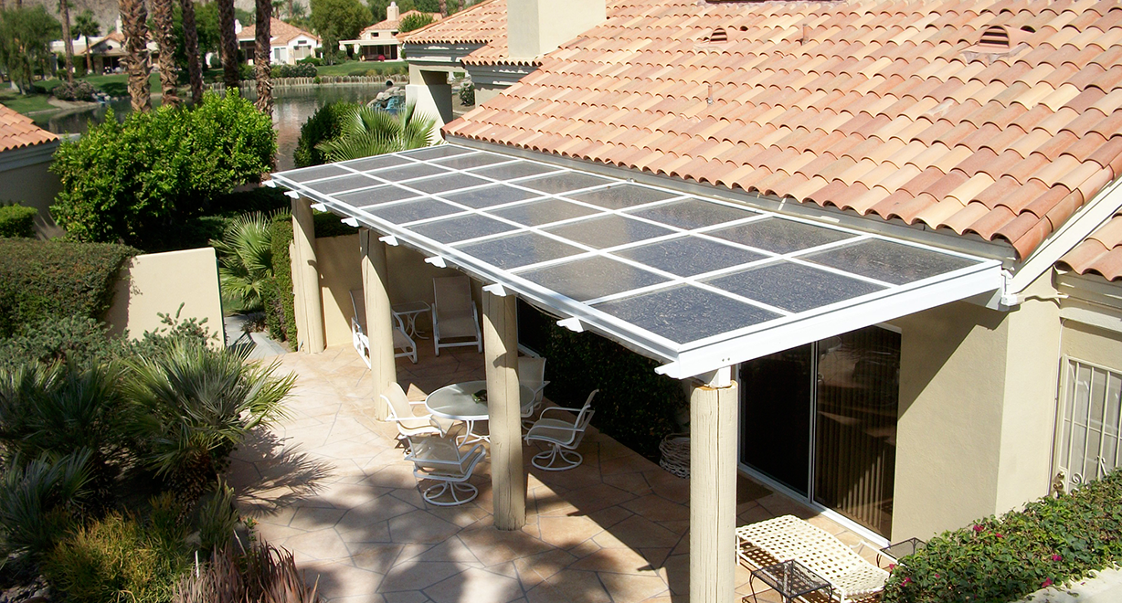 Bifacial Solar Panels Awning By Sanyo Home Construction