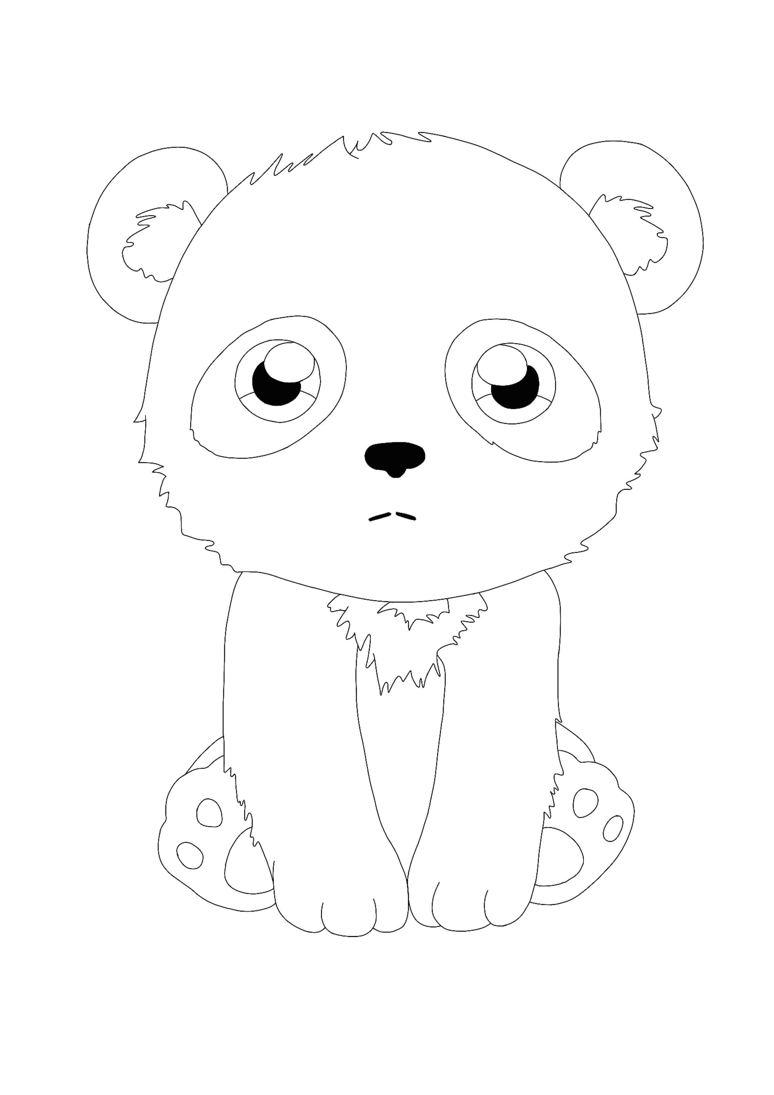 Kawaii Panda Coloring Page Cat Coloring Page Panda Coloring Pages Manga Coloring Book