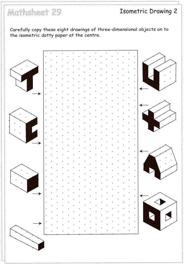 isometric drawing exercises for kids Cerca con Google – Drawing Worksheets