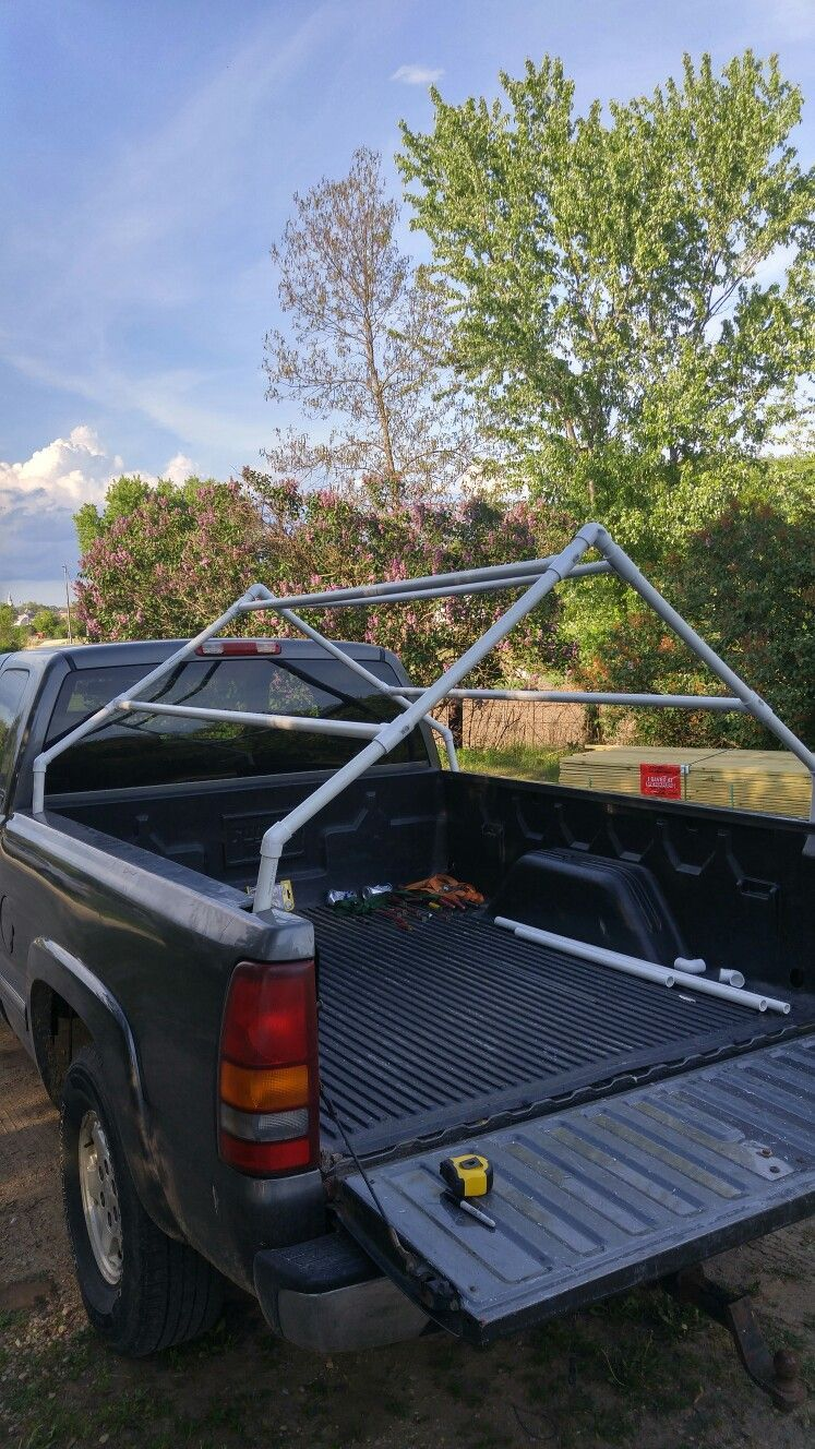 Diy pvc truck bed tent. Just trough tarp over. Truck bed