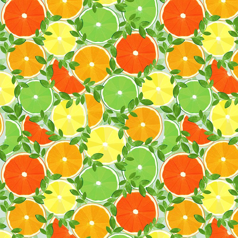 This just has summertime written all over it!  Slice of Summer in Citrus, Medium