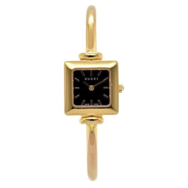 9a452cdaea1 Pre-owned Gucci 1900L Pink Gold Plated 19.5mm Womens Watch (€205) ❤ liked on  Polyvore featuring jewelry
