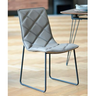 Pleasant Contemporary Faux Leather Dining Chair With Diamond Stitched Gmtry Best Dining Table And Chair Ideas Images Gmtryco