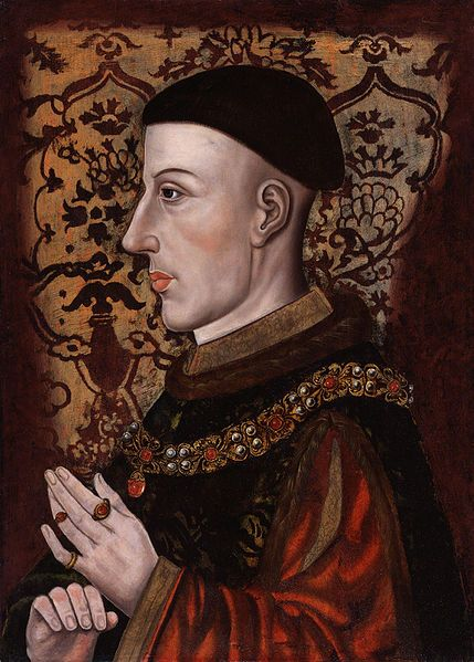 """Henry V was crowned on 9 April 1413 at Westminster Abbey. The ceremony was marked by a terrible snow storm, but the common people were undecided as to whether it was a good or bad omen.[9] Henry was described as having been """"very tall (6ft 3 in), slim, with dark hair cropped in a ring above the ears, and clean-shaven"""". His complexion was ruddy, the face lean with a prominent and pointed nose. Depending on his mood, his eyes """"flashed from the mildness of a dove's to the brilliance of a…"""