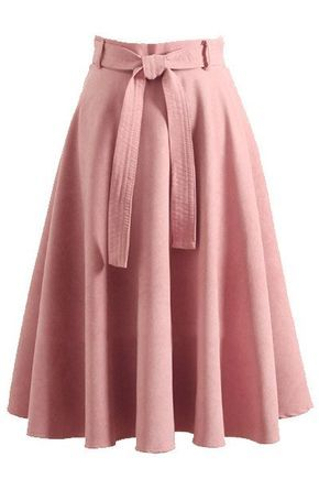tienda oficial ahorre hasta 60% gran venta Retro High Waist Bow Belt A-Line Skirt | Fashion outfits en ...