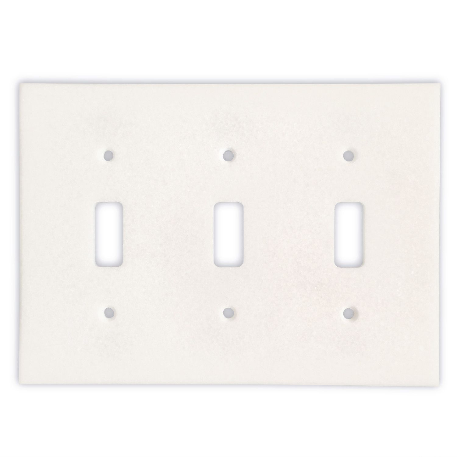 Triple Switch Plate Cover Thassos White Marble Triple Toggle Switch Wall Plate  Switch