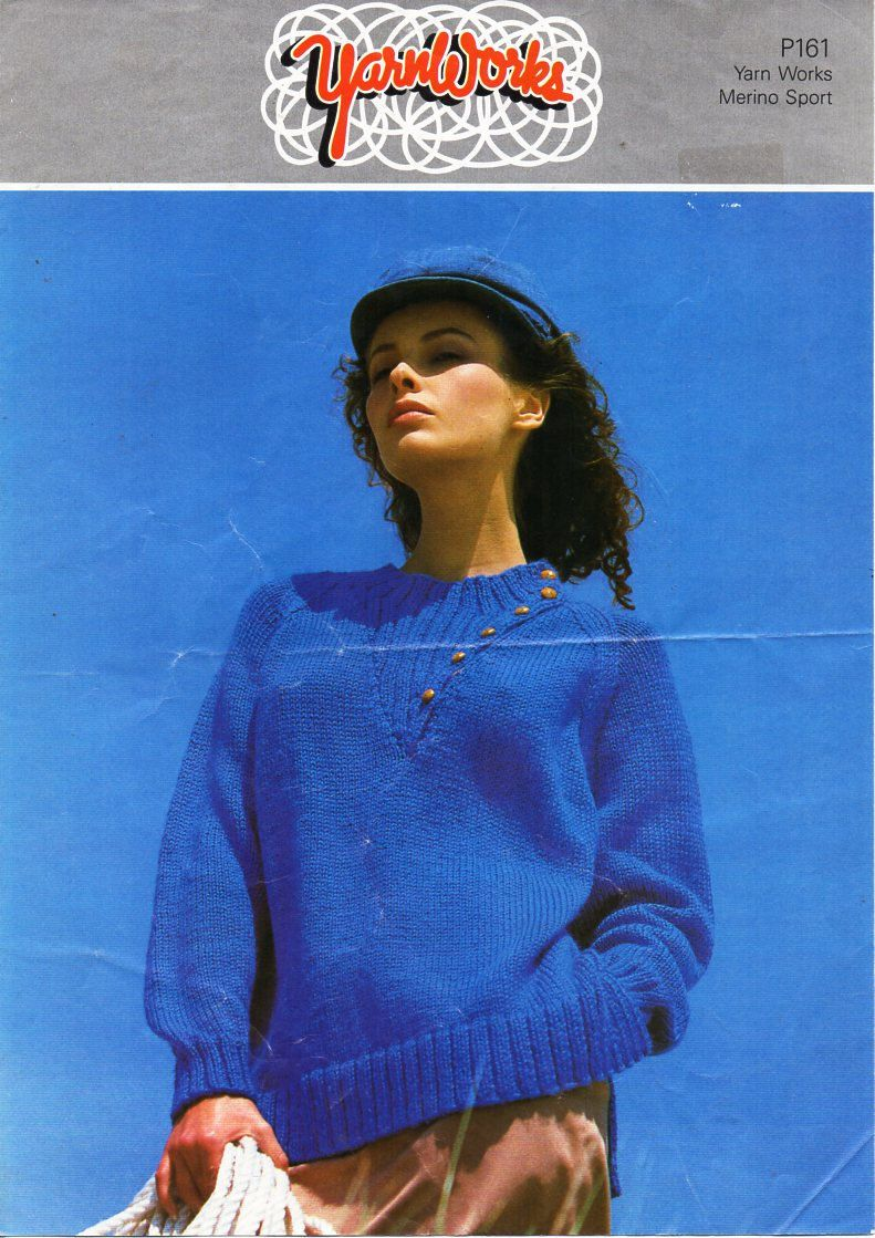 ladies sweater knitting pattern PDF aran womens rib yoke jumper 34 ...