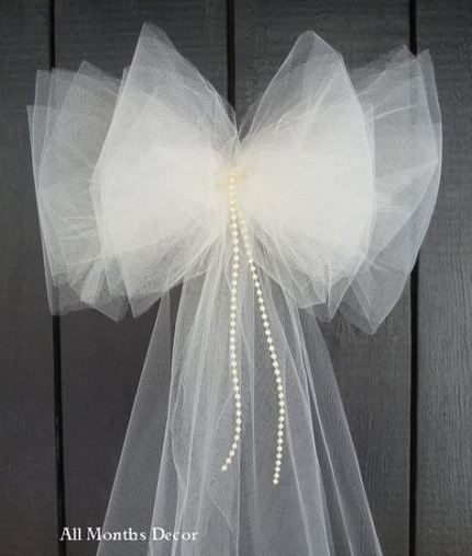 Simple Wedding Church Pew Decorations: Wedding Church Ceremony Tulle Bows 56 Best Ideas In 2019