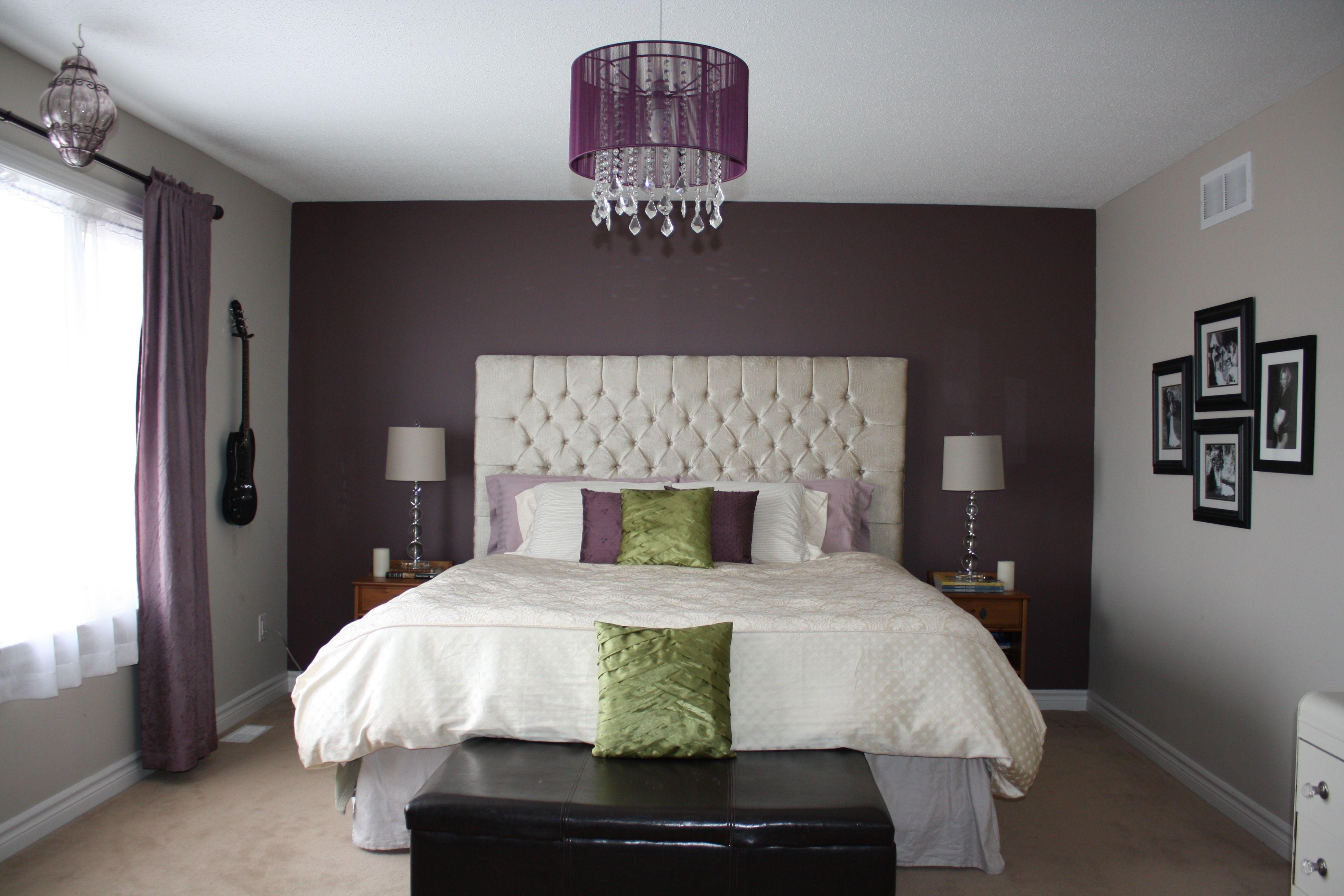 Master bedroom headboard design ideas  My Master bedroom makeover I made this King sized diamond tufted