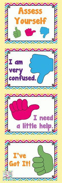 Free Self Assessment Posters | Best Of First Grade | Pinterest