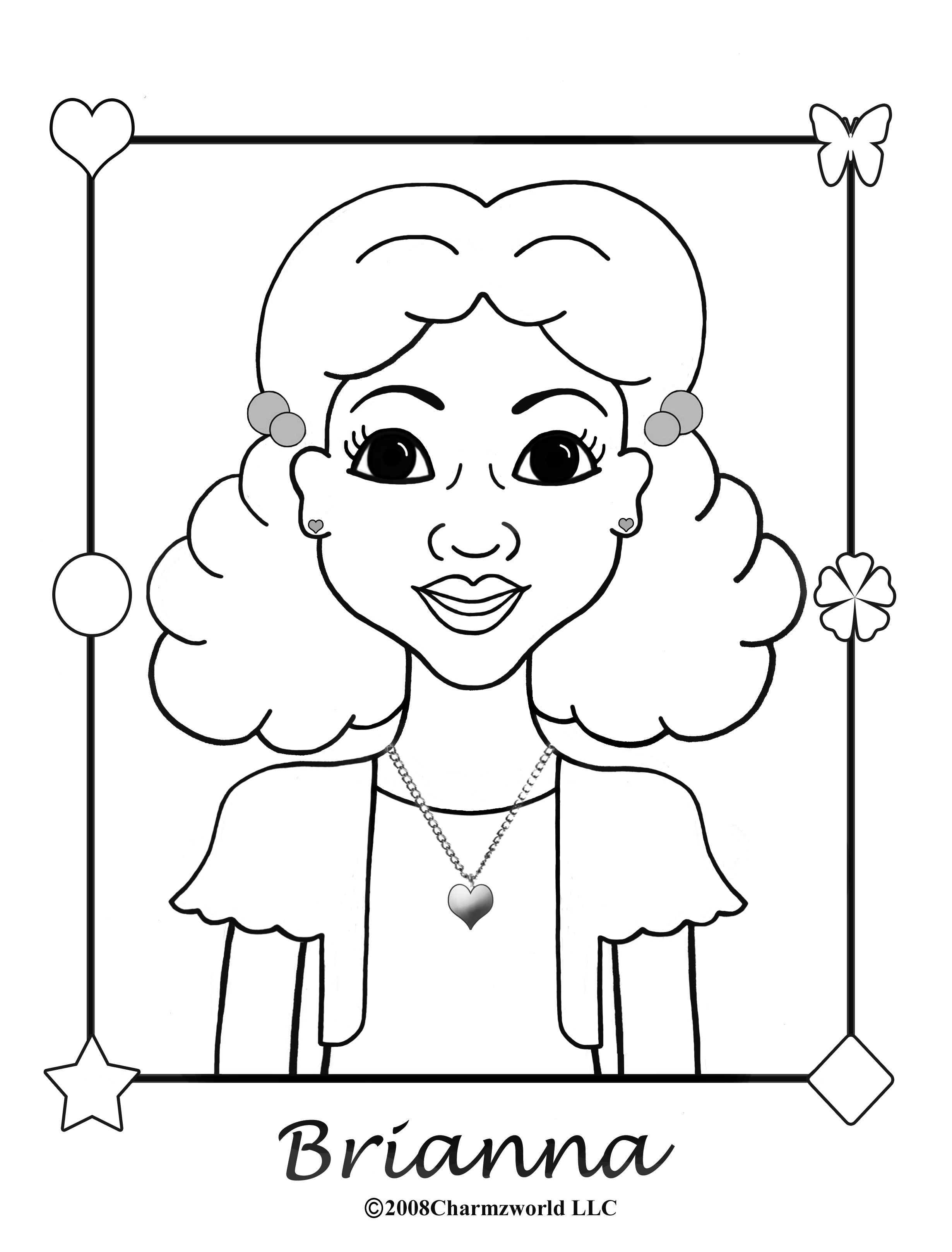 charmz brianna charmz coloring u0026 activity book pinterest