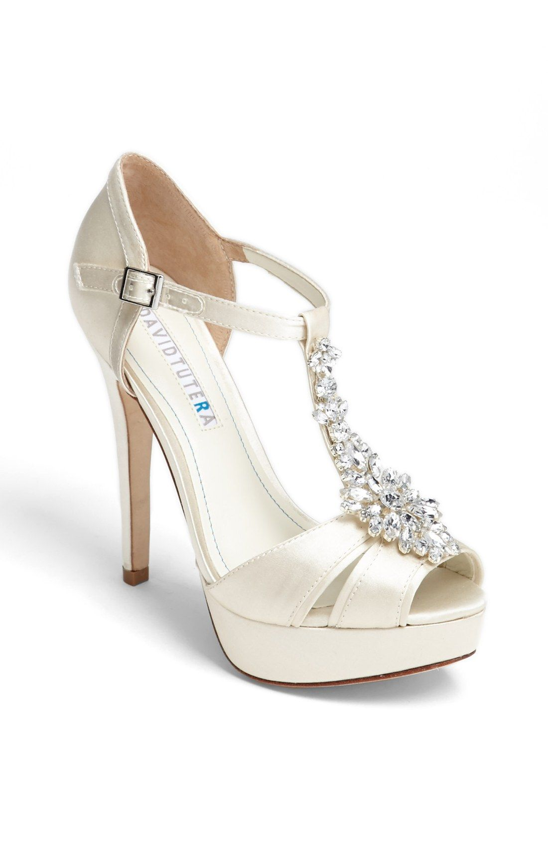 fa8ae3e317fa DAVID TUTERA  Winter  Wedge Sandal For Brides « Wedding Fashion ...
