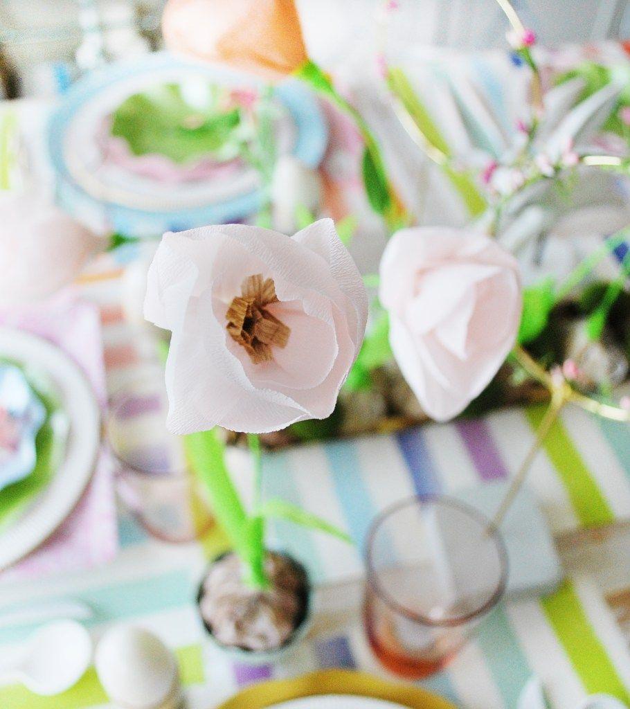 Crepe paper tulip in   paper flowers  Pinterest  Crepe paper