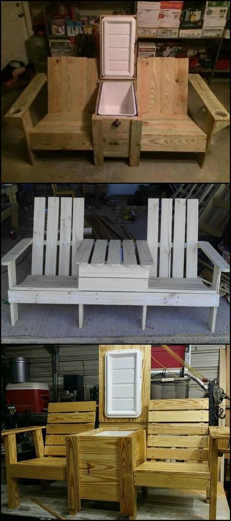Photo of Adirondack Jack & Jill Chair from Pallets • 1001 Pallets