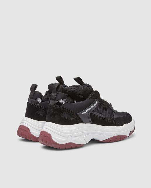 Zapatillas deportivas de mujer Calvin Klein Jeans de color negro con logo 91d8a6e03cfa0