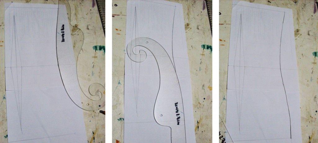 Uso da curva francesa para desenhar a lateral do vestido | costura ...