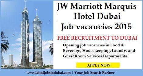 Jobs In Jw Marriott Marquis Hotel Dubai Hotel Jobs Room Attendant Hotel