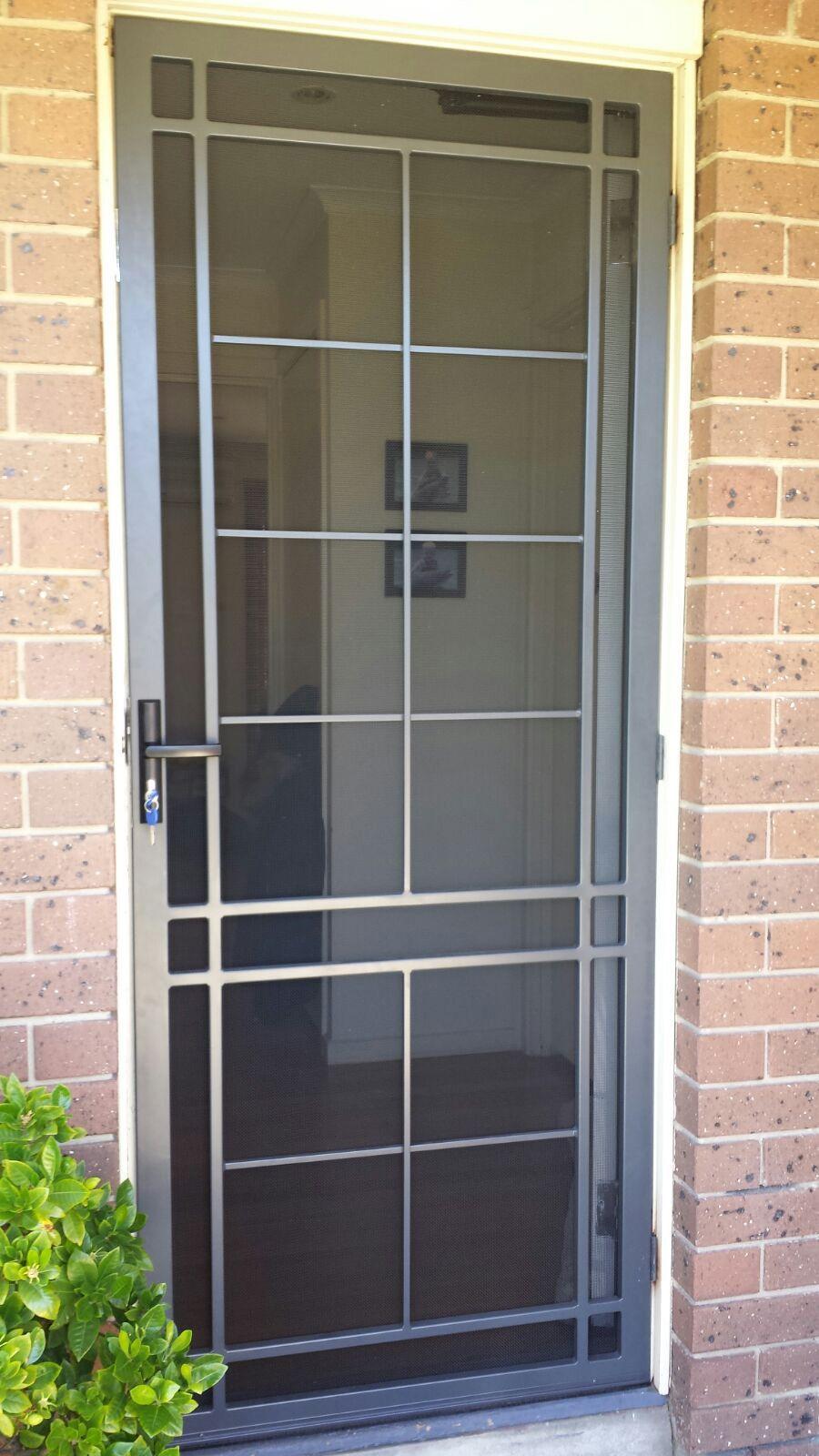 Steel Security Door With Stainless Steel Mesh Installed In