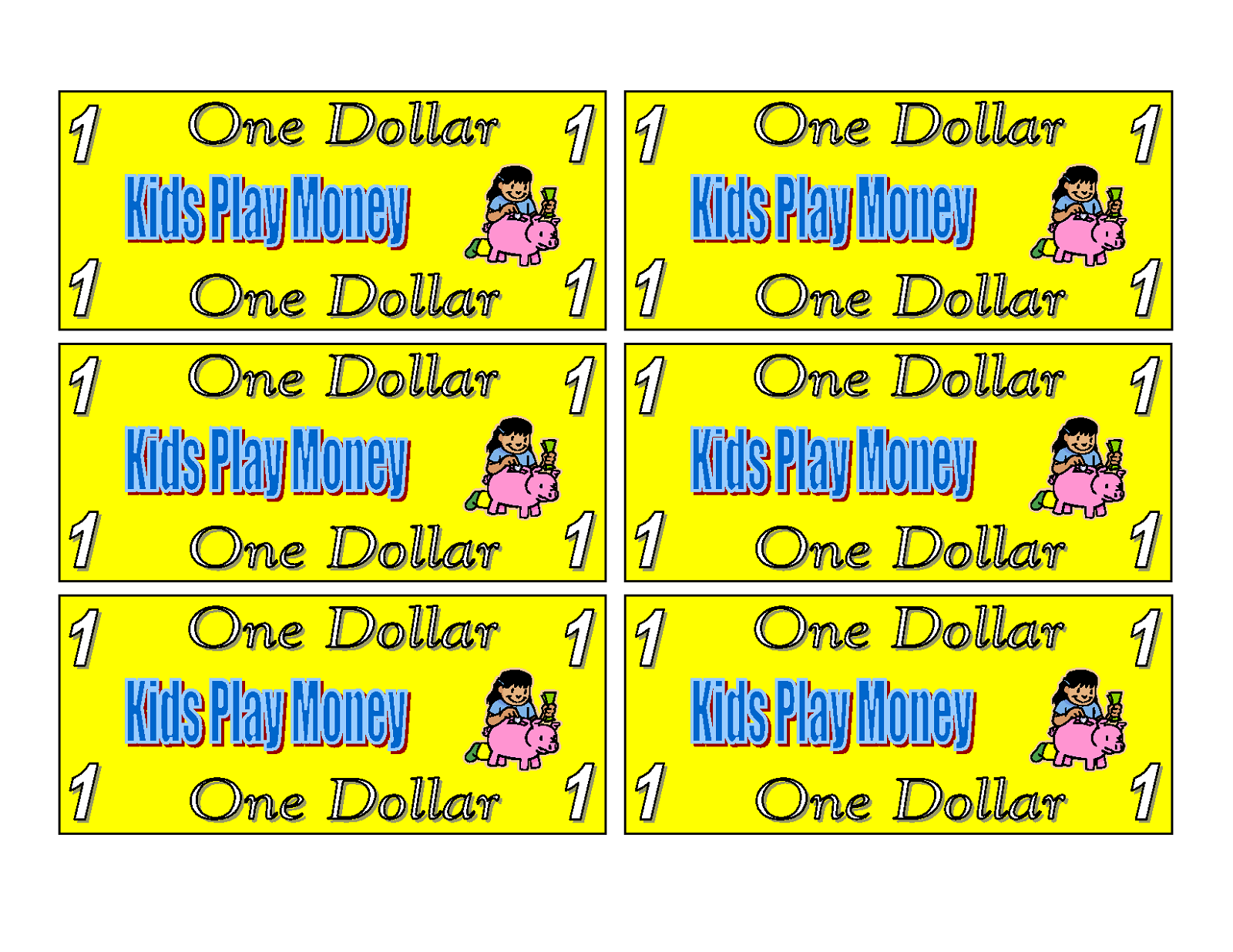 Printable Play Money Black And White - Free Clipart