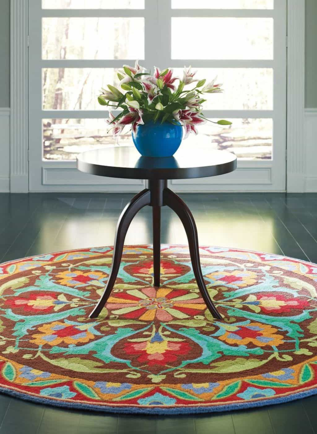 Decorating Foyer With Round Rugs Round Rugs Round Area Rugs Handmade Area Rugs