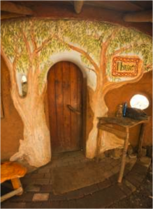 The flexibility of the material (cob) gives it the potential to be free-form and leaves room for tremendous artistic expression. There are various homes that display the creativity of the builder, and the beauty in them is unmistakable. Building a cob house is really like sculpting your own masterpiece, and this gives cob homes a very special and unique value.