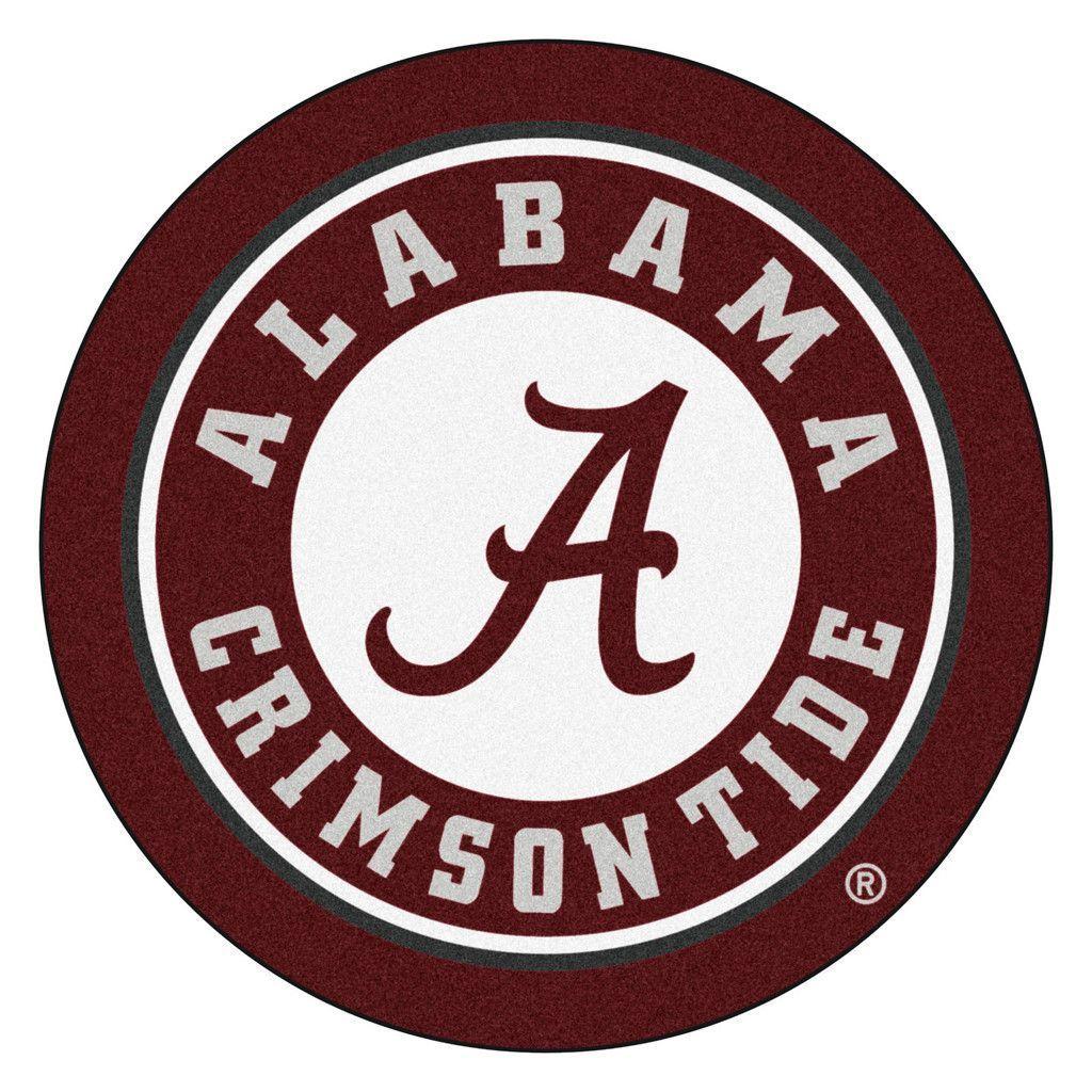 Alabama Crimson Tide Team Emblem Throw Rug Alabama