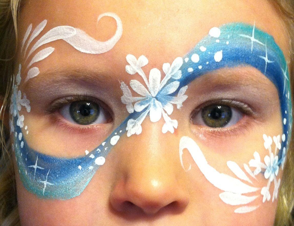 Snowflake mask Schminken ontwerpen, Schminken, Gezicht