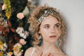 How To Style Wedding Hair Accessories With Curly Hair, Debbie Carlisle + Top Hair Care Tips f... #hairaccessories