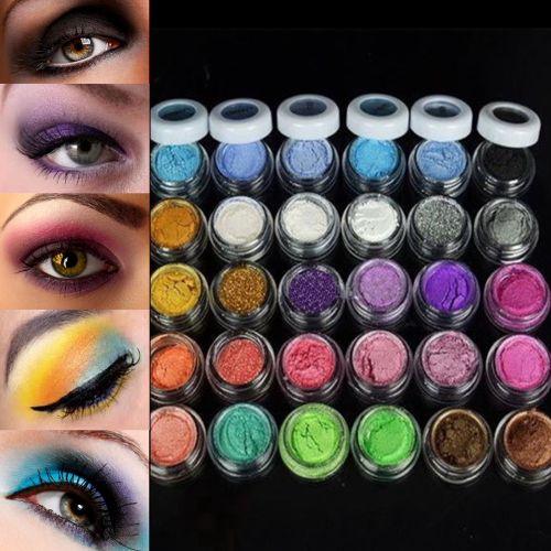 전문 다채로운 30 색 아이 섀도우 파우더 메이크업 미네랄 아이 섀도우 여성 얼굴 아름다움 화장품 메이크업 도구