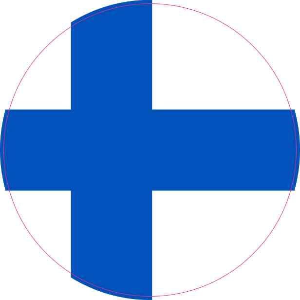 4in x 4in round finland flag sticker vinyl vehicle decal travel stickers