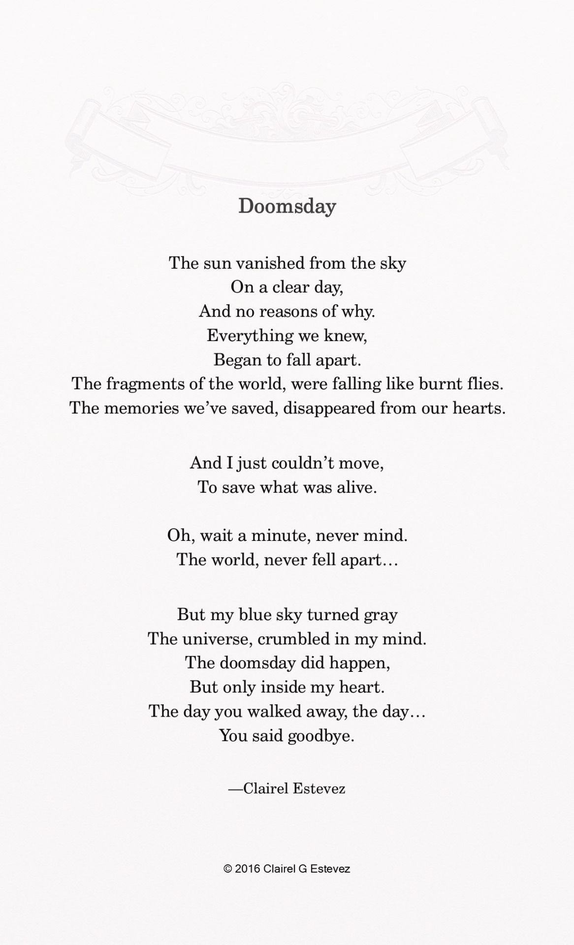 Doomsday Follow The Wishful Box Blog For All Original Inspirational
