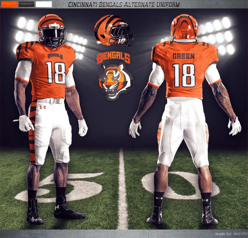 357619d0 This would be a cool uniform. | Cincinnati Bengals | Nfl uniforms ...