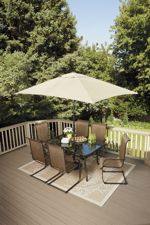 Savannah 7 Piece High Back Dining Set Available From Walmart Canada Shop And Save Outdoor Living At Everyday Low Prices At Walmart Ca Patio Outdoor Dining Set Garden Furniture Sets