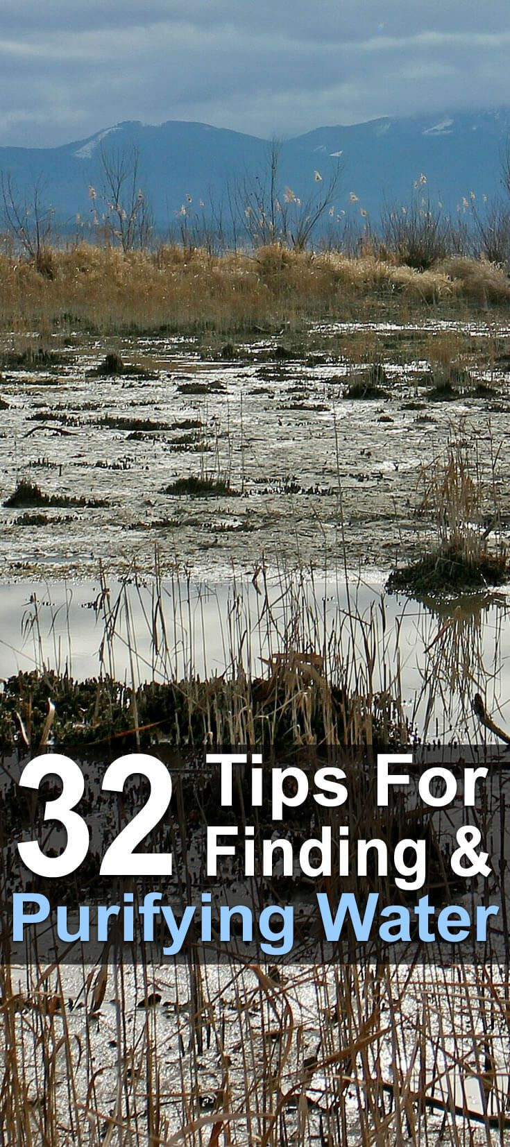 In this article, Deer Hunting Field describes 18 ways to find water in the wilderness and 14 ways to purify it. There are pictures, lists, videos, and more.