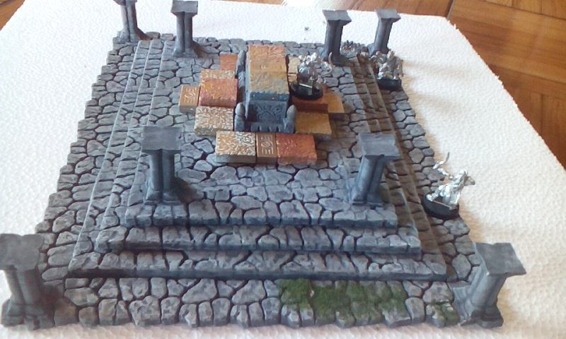 Section from Balin's tomb, Lotr terrain piece made by me