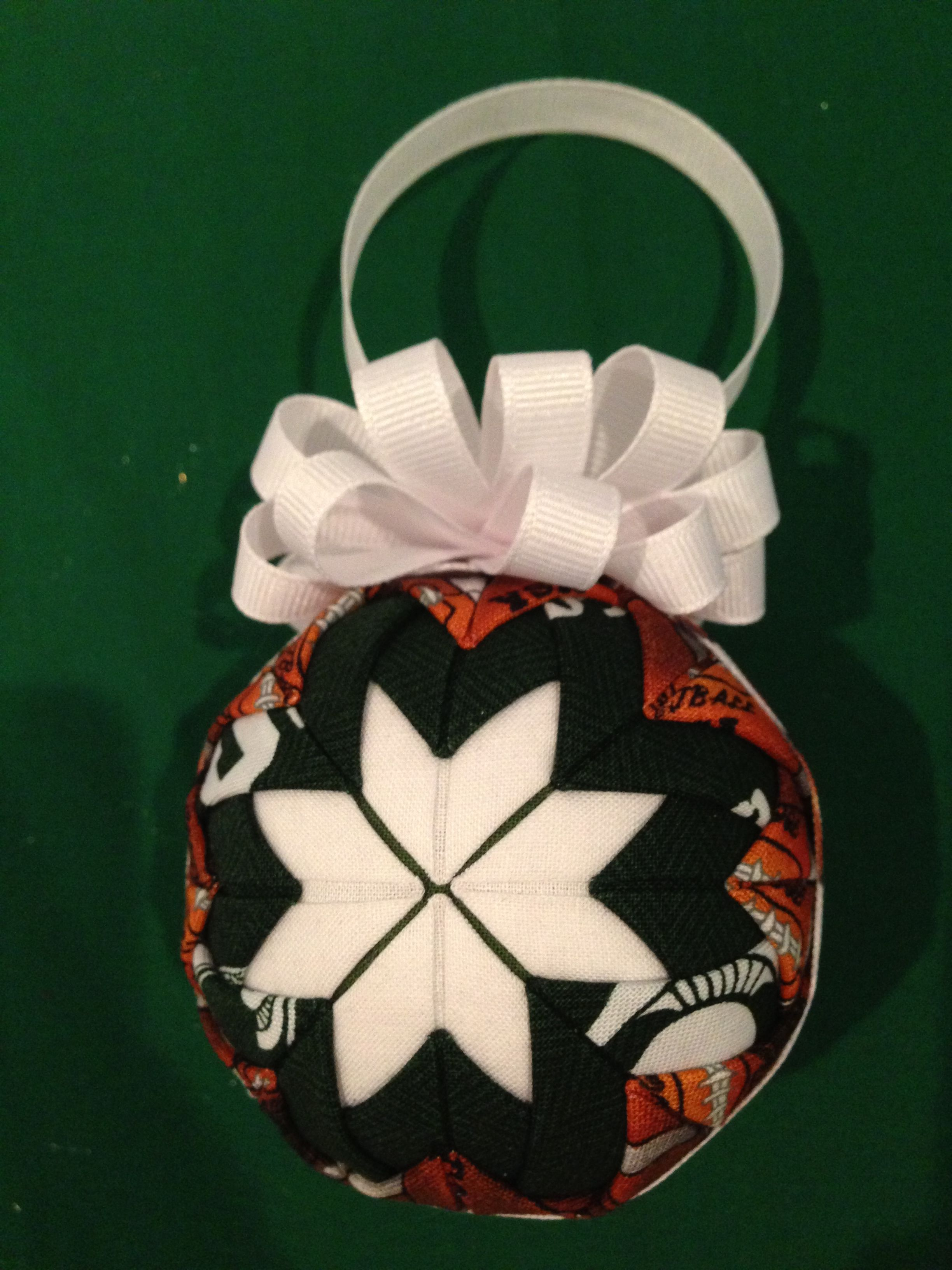 University of michigan christmas ornaments - Michigan State University Msu Football Quilted Christmas Ornament Holiday Fabric Craft