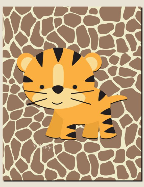 Baby Girl Nursery DecorBaby Boy Nursery Art Jungle by vtdesigns ...