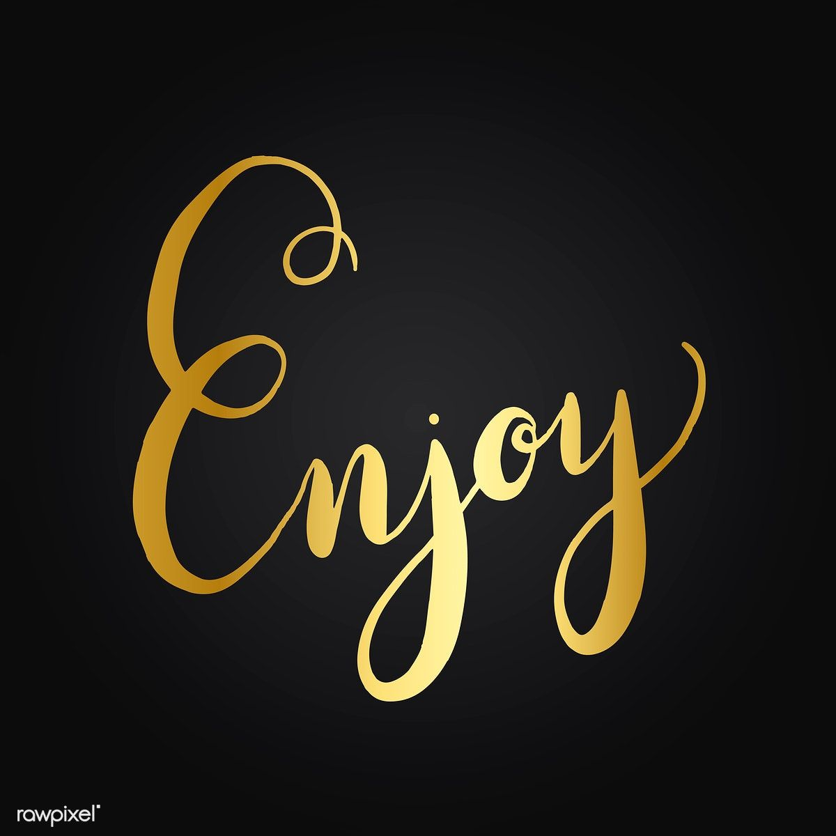 Enjoy handwritten typography style vector free image by