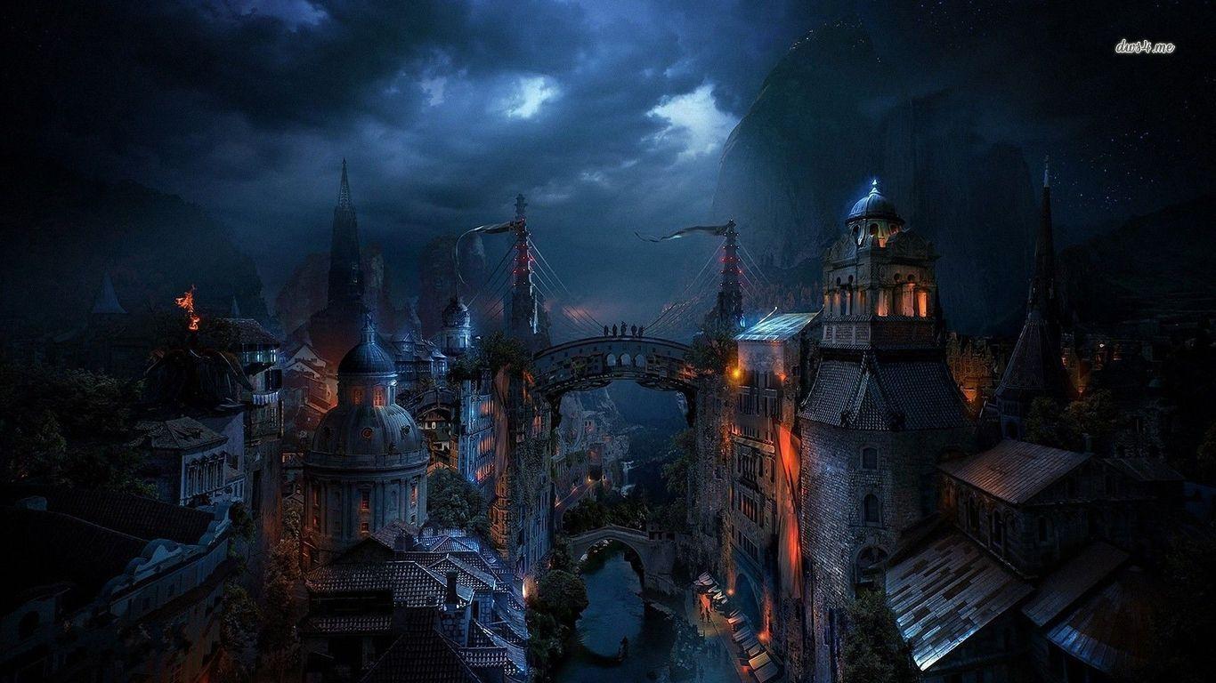 Dark city | Steampunk wallpapers | Pinterest | Dark city ...