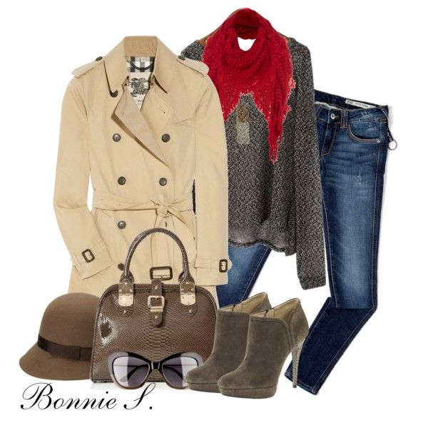 trench coat, created by bonnaroosky on Polyvore