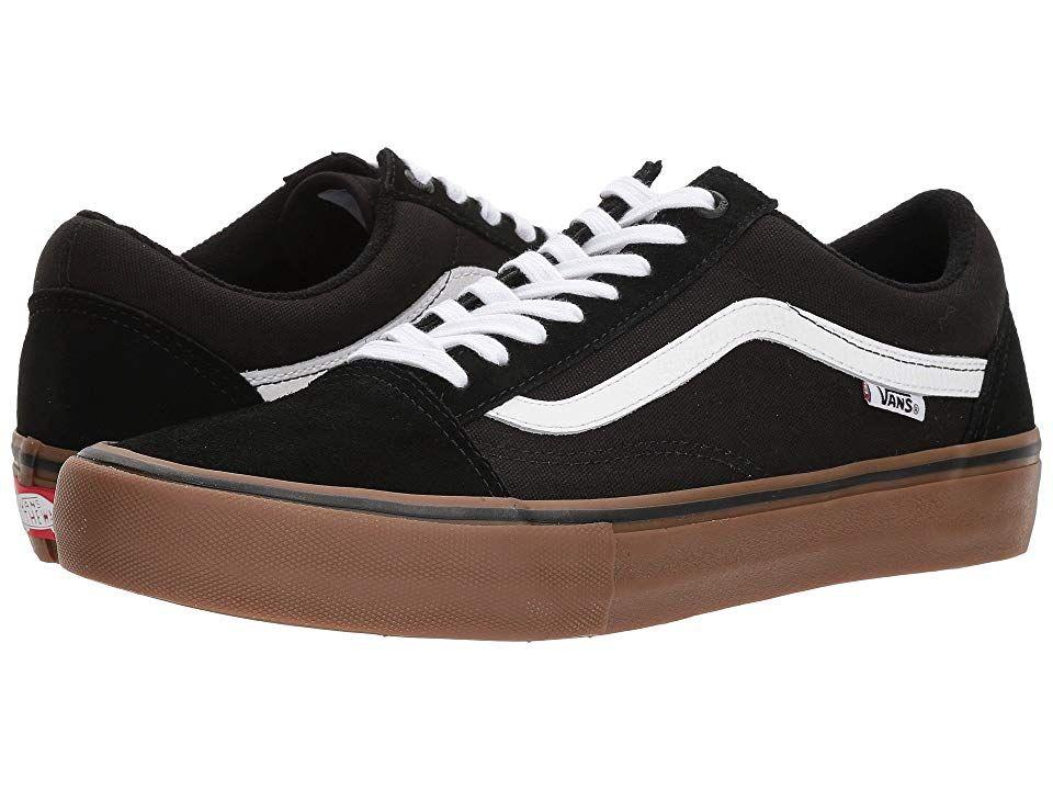 Vans Old Skool Pro Skate Shoes BlackWhiteMedium Gum in
