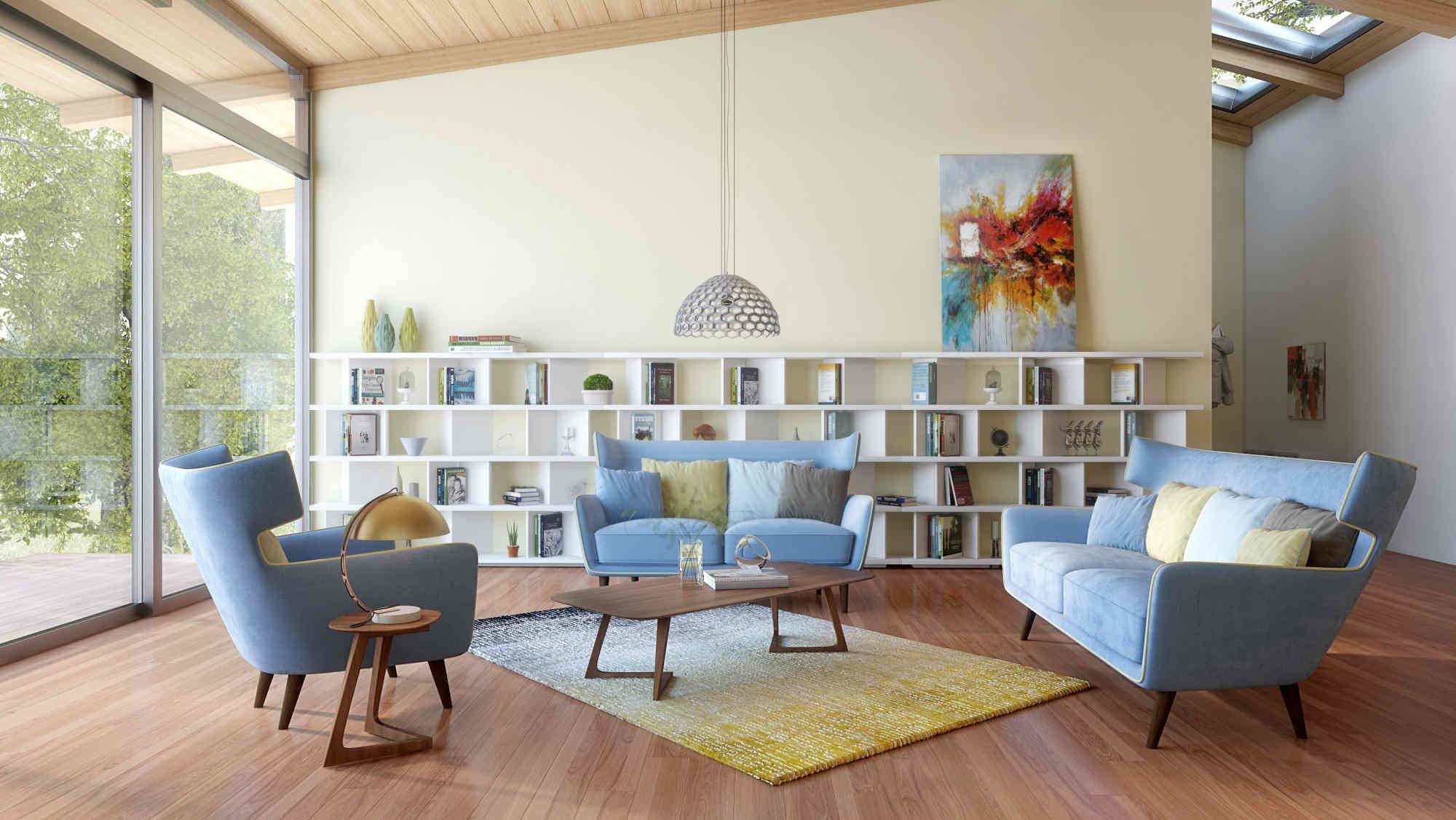 17 Beautiful Mid Century Modern Living Room Ideas You Ll Love Mid Century Living Room Living Room Without Sofa Living Room Modern