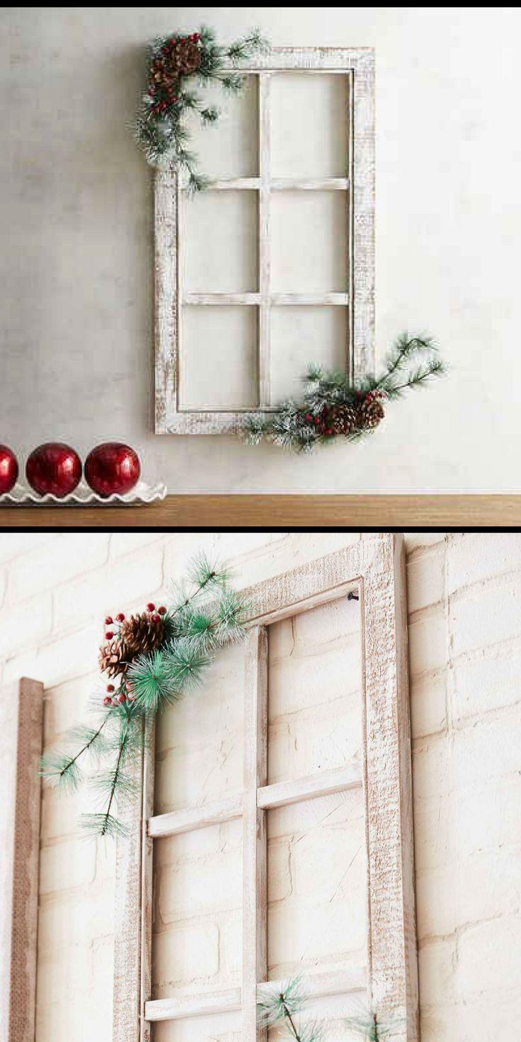 Christmas Window Frame Decor Christmas Farmhouse Ad Christmas Decorations Rustic Winter Door Decorations Holiday Decor Christmas