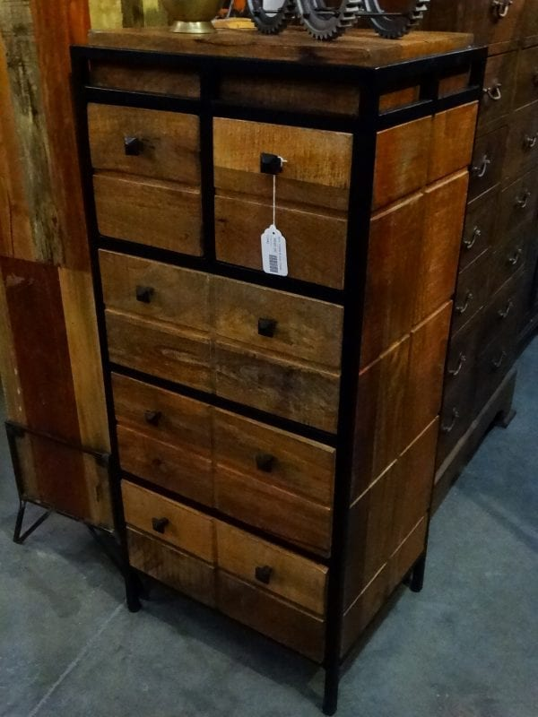Dresser Chest Of Drawers Wood With Black Metal Frame Dresser