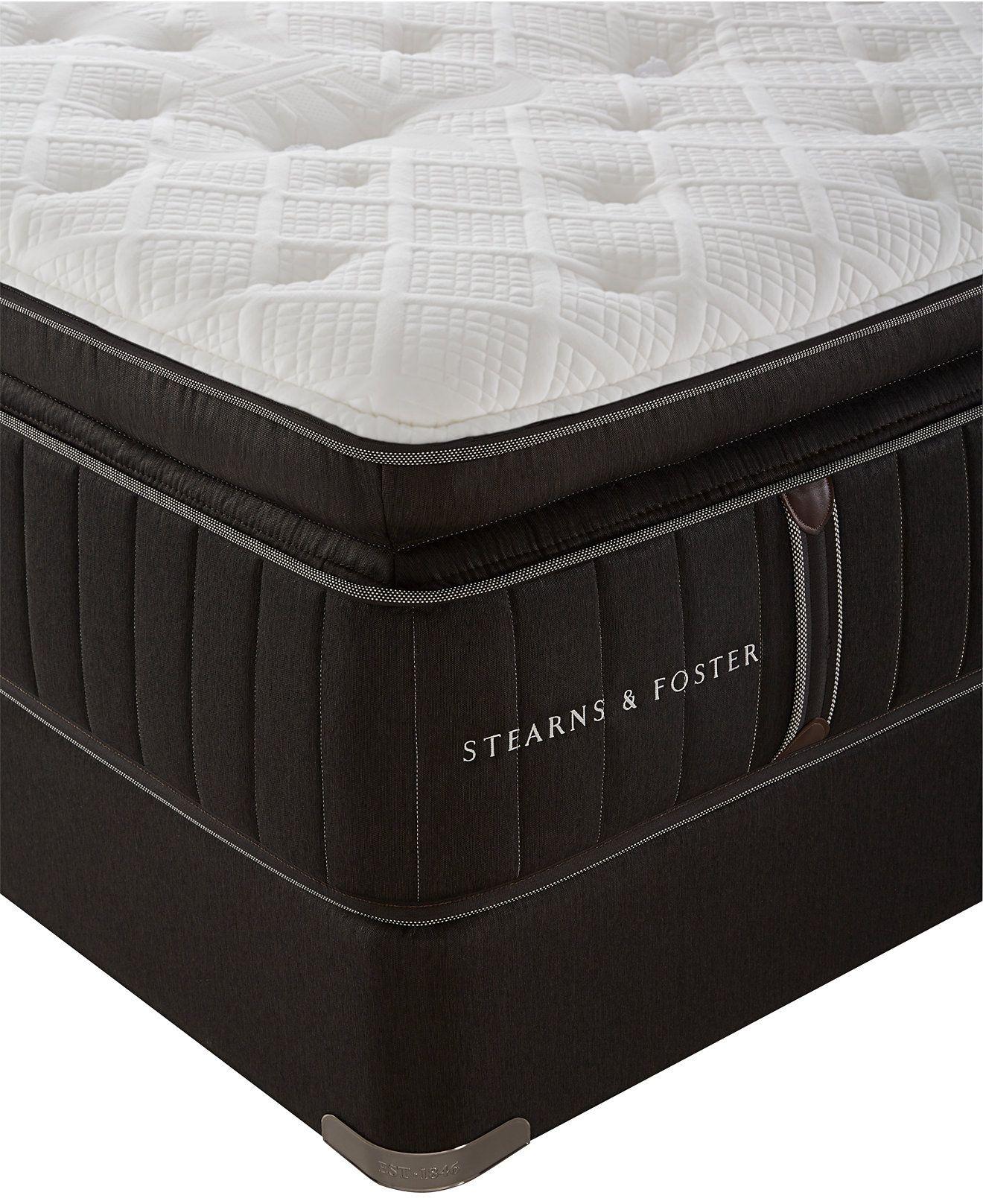 - Stearns & Foster Estate Lux Salzburg Luxury Plush Euro Pillowtop