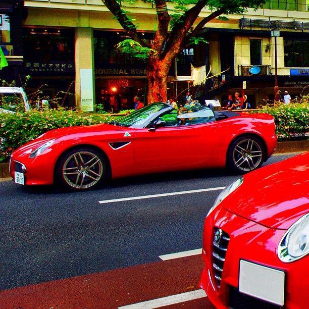 アルファロメオ8Cスパイダー と ミト Alfa Romeo 8C Spider & Mito