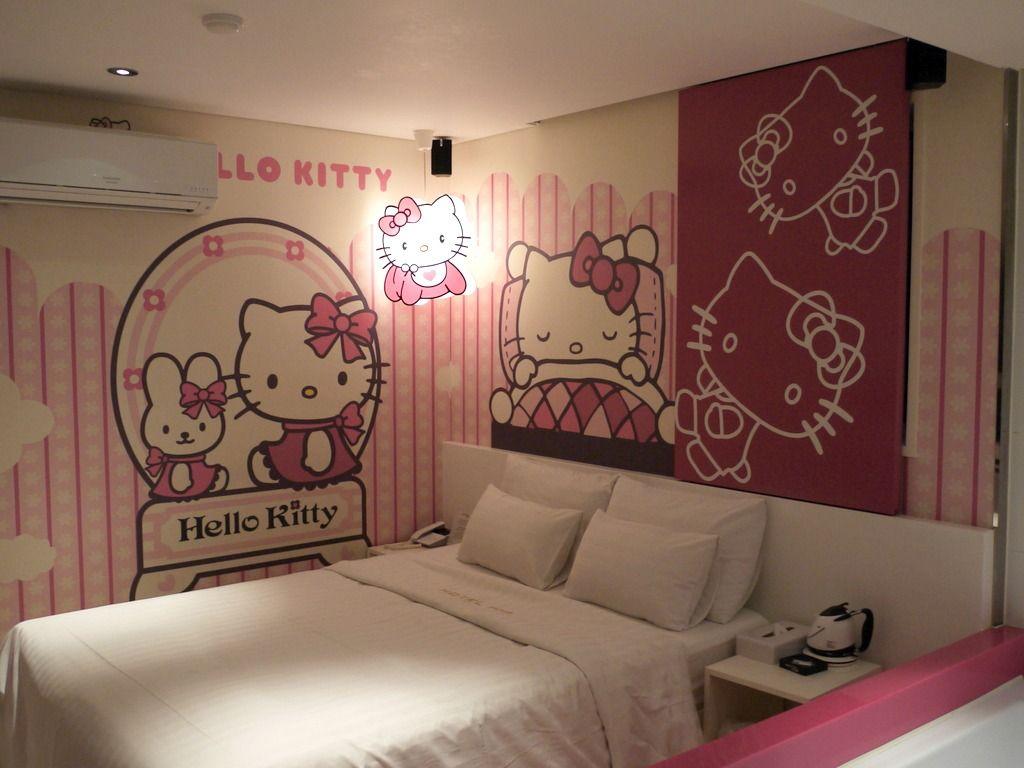 Love Hotel In Seoul A Juggling Mom Hello Kitty Room Decor Hello Kitty House Hello Kitty Bedroom Decor