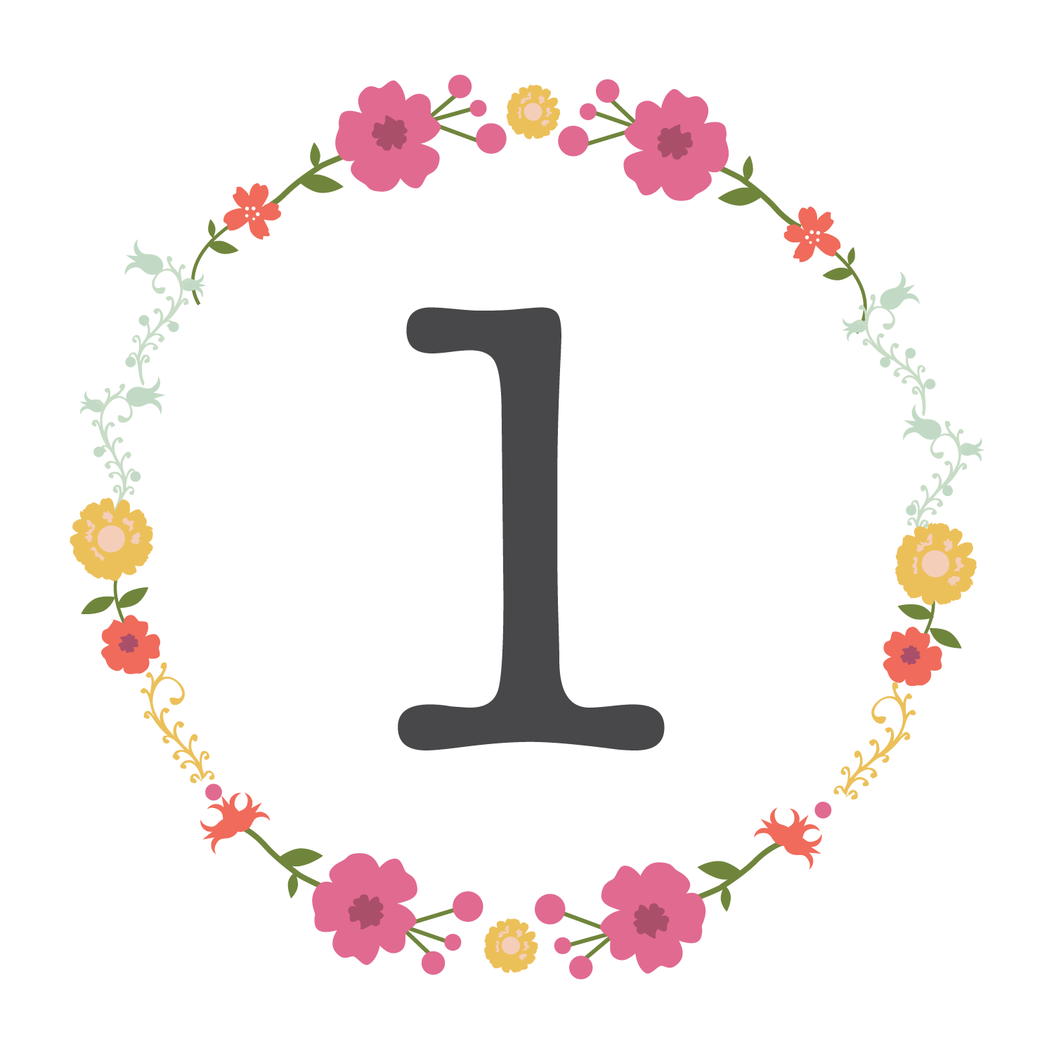 image about Printable Table Number known as Free of charge Floral Printable Desk Variety Freebies Cost-free